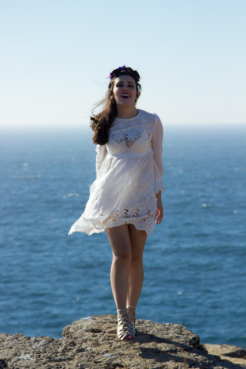 Le Fashionaire A ti, mar cabo carvoeiro mar blogueira bonita mango vestido bordado estilo branco 1600 PT 805x1208