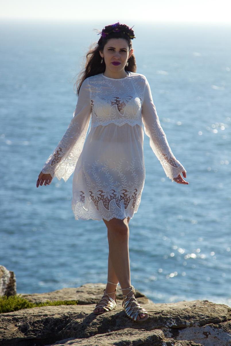Le Fashionaire A ti, mar cabo carvoeiro mar coroa mango vestido bordado estilo branco 1572 PT 805x1208