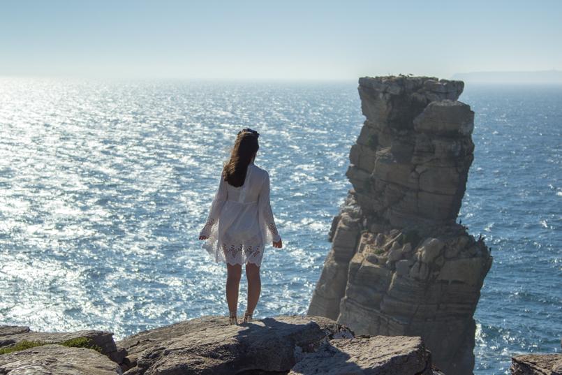 Le Fashionaire A ti, mar cabo carvoeiro mar paisagem mango vestido bordado estilo branco 1542 PT 805x537