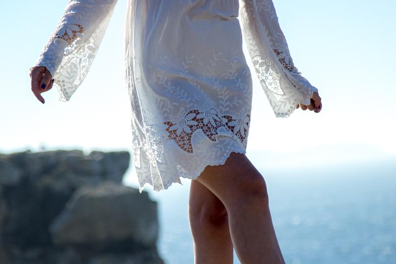Le Fashionaire A ti, mar cabo carvoeiro mar paisagem mango vestido bordado estilo branco 1568 PT 805x537