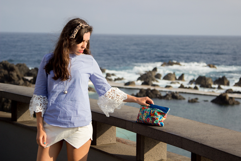 Le Fashionaire Travel Diary: The embroidered shirt in Porto Moniz lefashionaire catarine martins travel diary embroidered—shirt outfit zara madeira portugal porto moniz beautiful blogger ootd wiwt 3450 EN 805x537