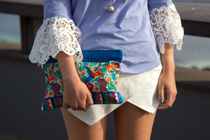 Le Fashionaire Travel Diary: The embroidered shirt in Porto Moniz lefashionaire catarine martins travel diary embroidered—shirt outfit zara madeira portugal porto moniz tropical clutch sleeve skort blogger 3415 EN 805x537