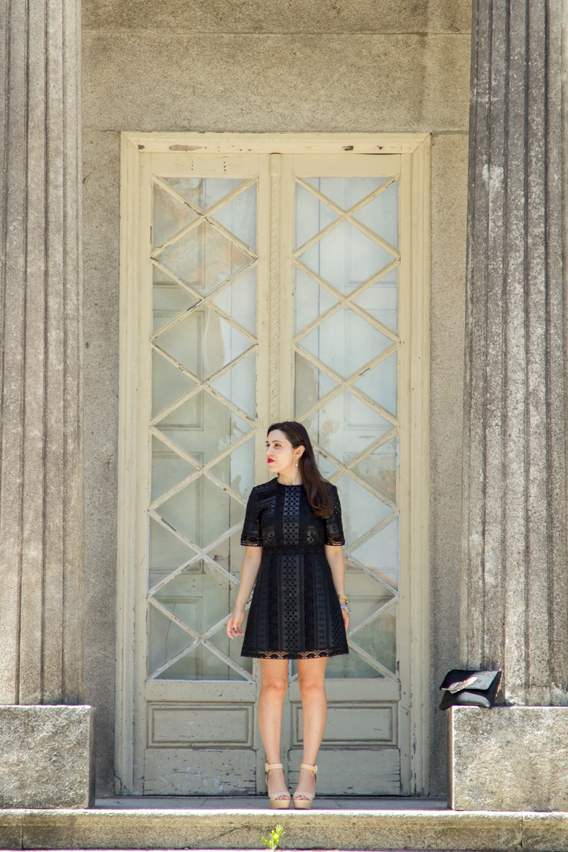 Le Fashionaire Oporto Haven pinto leite palace blogger inspiration dreamy place zara black dress dress black zara 1352 EN 805x1208