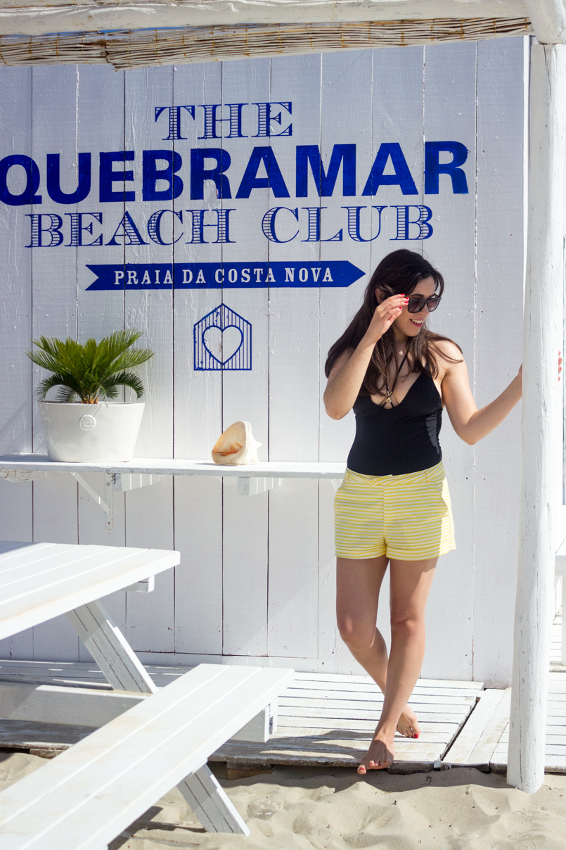 Le Fashionaire Bye bye, summer portugal costa nova beach summer blogger quebramar club beachclub women secret swimsuit black shorts zara sunnies dolce gabbana 0611 EN 805x1208