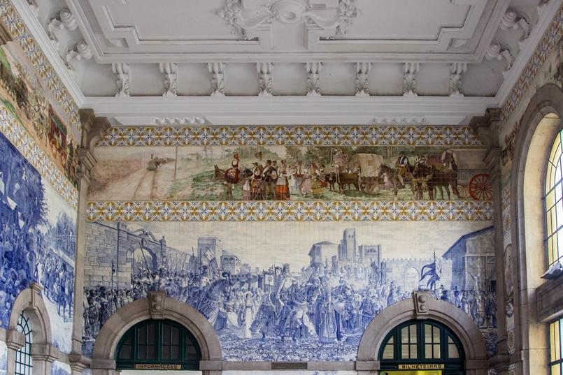 Le Fashionaire Estação de São Bento azulejos estacao comboios sao bento tile 7947 PT 805x537