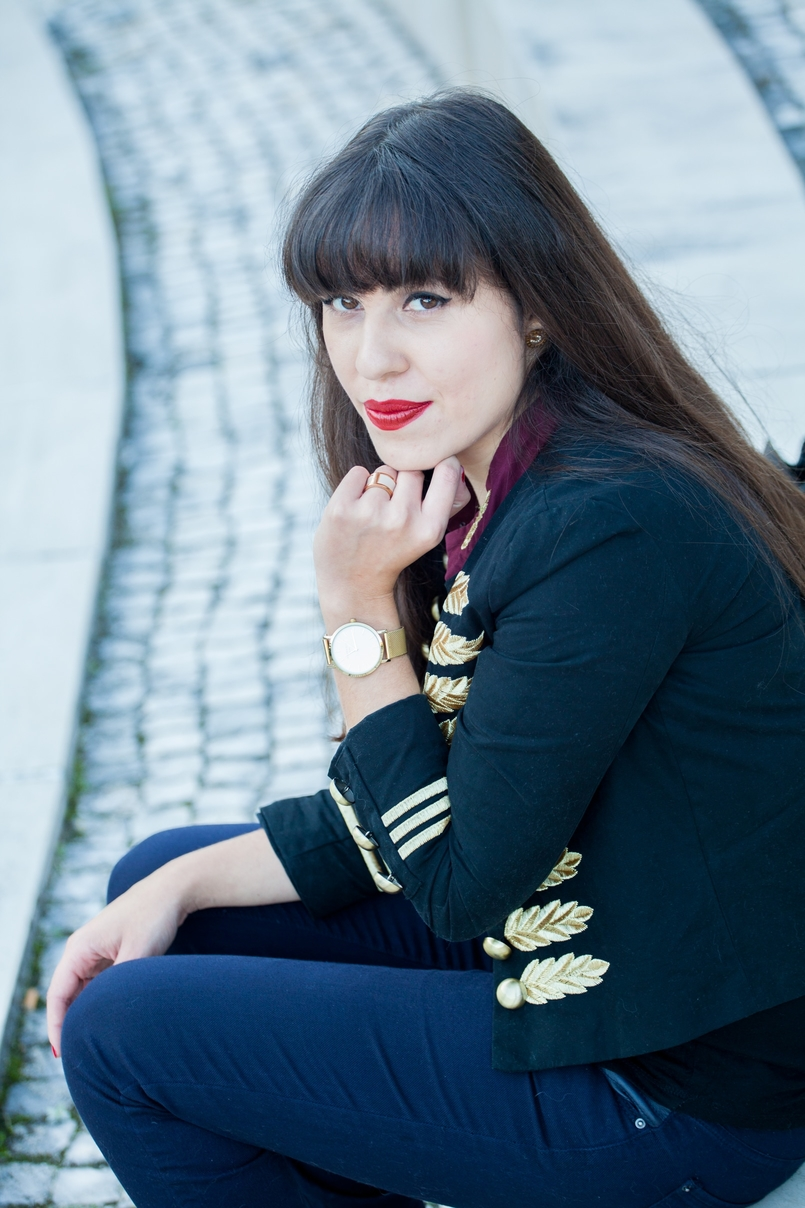 Le Fashionaire When i had bangs: The Napoleonic Military Jacket military jacket minusey michael jackson style gold dark blue embroidered vermelho sangue olivia nars ring white gold leather calvin klein 5937 EN 805x1208