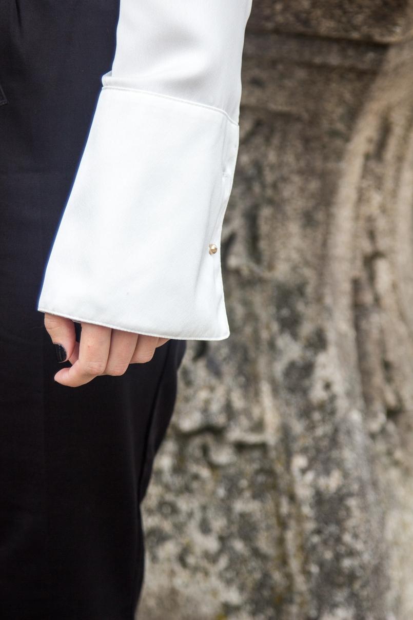 Le Fashionaire Preto no Branco porto se catedral calcas pretas zara camisa seda branca pormenores dourados zara 7124 PT 805x1208