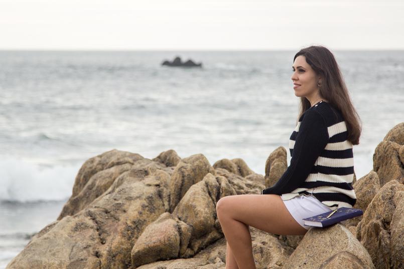 Le Fashionaire Chuva de Estrelas praia mar porto blogueira camisola zara kids malha riscas azul branca dourada calcoes brancos botoes dourados versace riachuelo 6198 PT 805x537