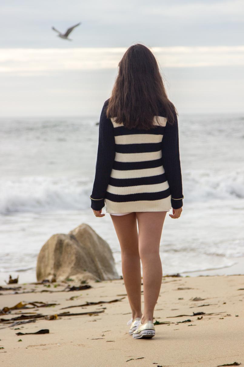Le Fashionaire Chuva de Estrelas praia mar porto blogueira camisola zara kids malha riscas azul branca dourada sapatilhas allstar converse douradas calcoes brancos botoes dourados versace riachuelo 6299 PT 805x1208