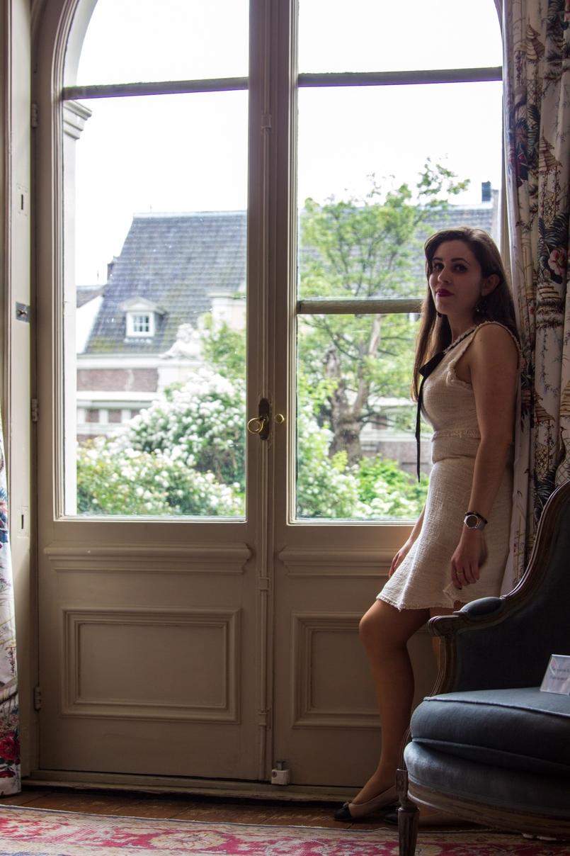 Le Fashionaire Diário de Viagem: Amsterdão blogueira catarine martins moda inspiracao vestido branco preto zara 0912 PT 805x1208