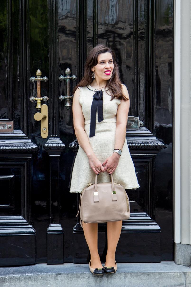 Le Fashionaire Diário de Viagem: Amsterdão blogueira catarine martins moda inspiracao vestido branco preto zara sabrinas branco preto marc jacobs relogio prateado calvin klein 0977 PT 805x1208