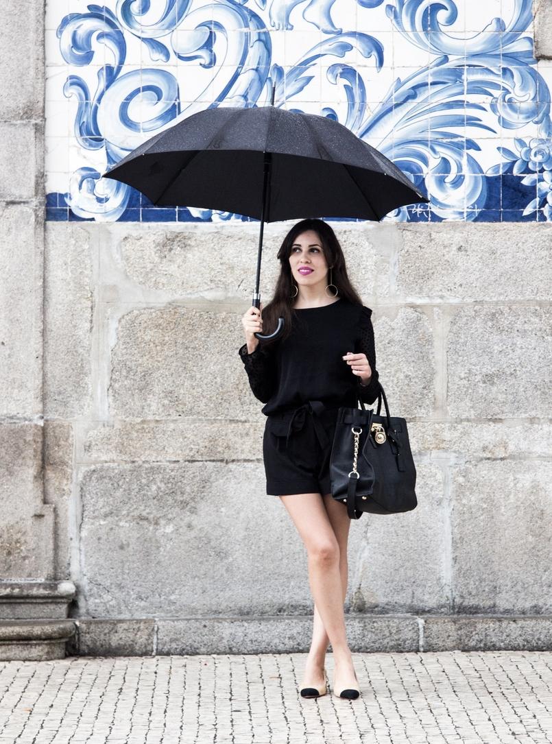 Le Fashionaire Good Vibes blusa preta mangas transparentes bolinhas veludo zara calcoes pretos laco asos sapatos pretos brancos zara mala hamilton michael kors 7390 PT 805x1085
