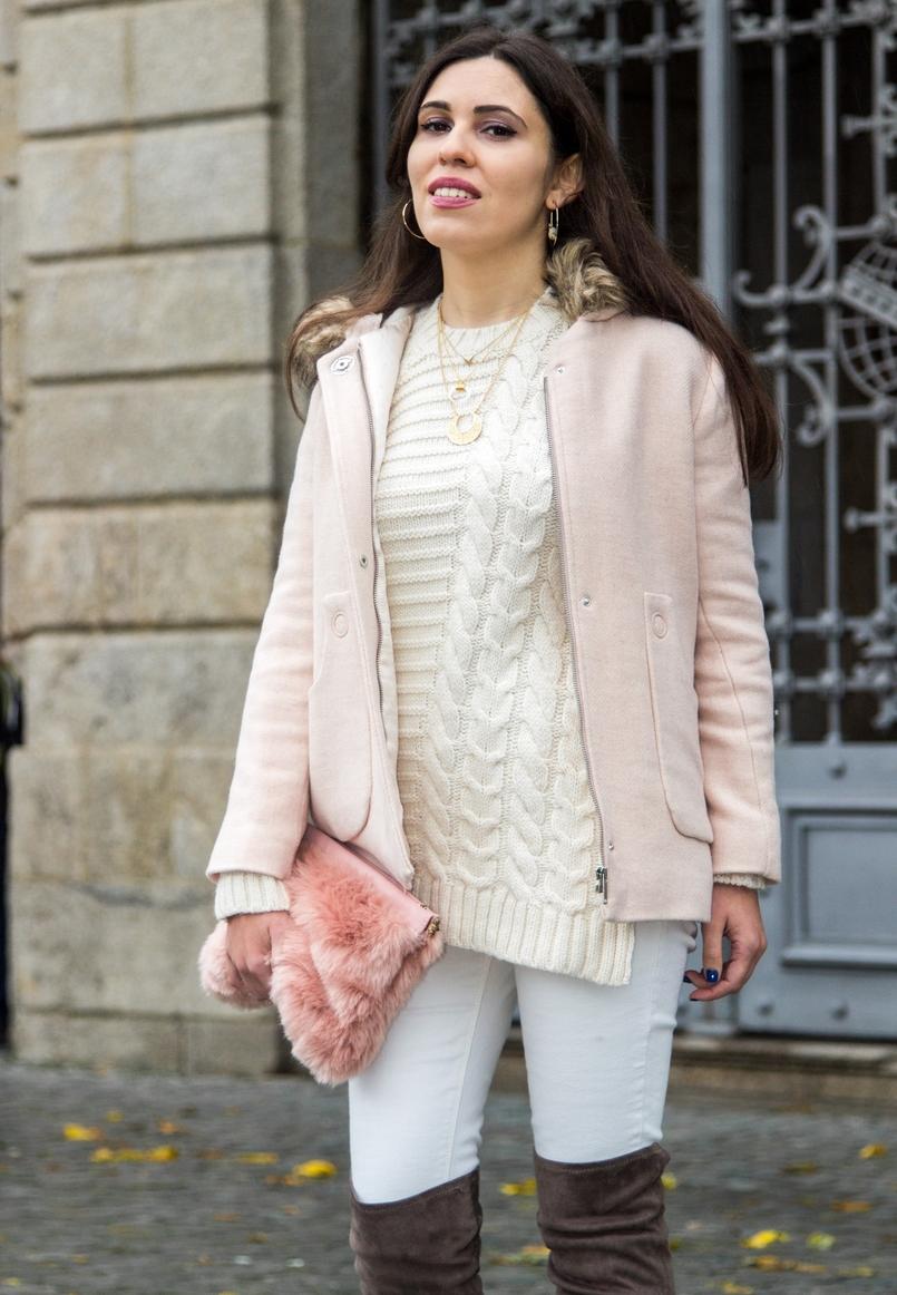 Le Fashionaire O casaco rosa casaco rosa bebe capuz pelos zara kids camisola mango branca la colar cinco branco colar cinco branco 0193 PT 805x1162