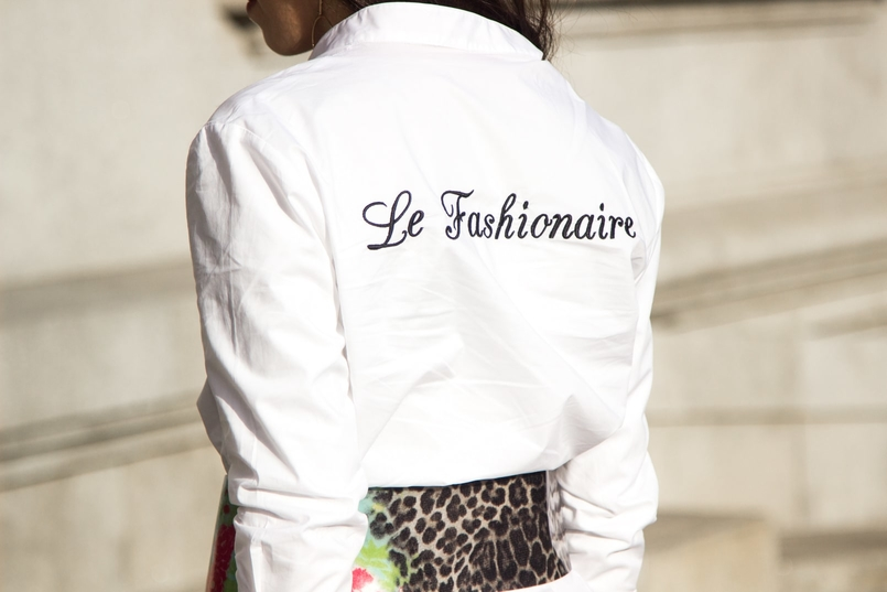 Le Fashionaire Le Fashionaire white bow shirt customized le fashionaire mango green leopard pvc roberto cavalli belt over knee black stradivarius boots 0219 EN 805x537