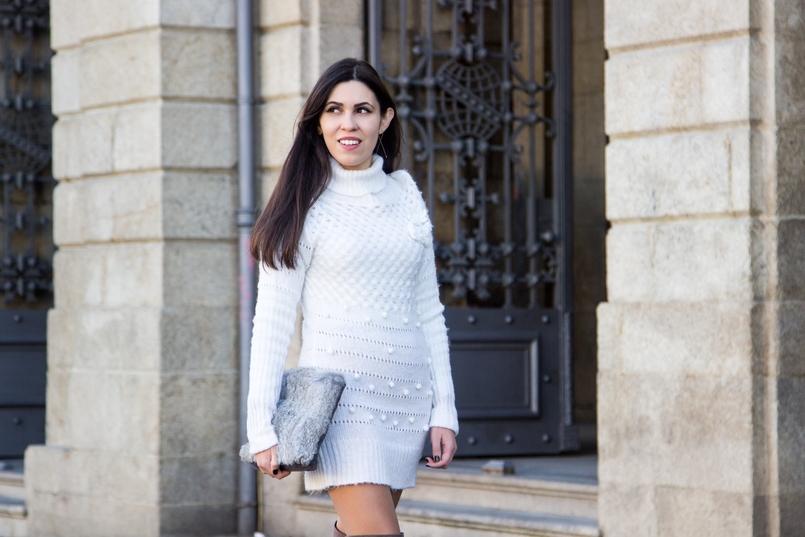 Le Fashionaire Frio de Janeiro blogueira catarine martins moda inspiracao vestido branco la rosa pompom stradivarius clutch pelo coelho cinzenta sfera 2573 PT 805x537