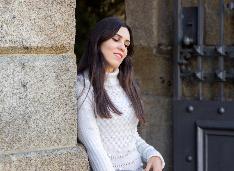 Le Fashionaire Frio de Janeiro blogueira catarine martins moda inspiracao vestido branco la rosa pompom stradivarius clutch pelo coelho cinzenta sfera 2599 PT 805x590