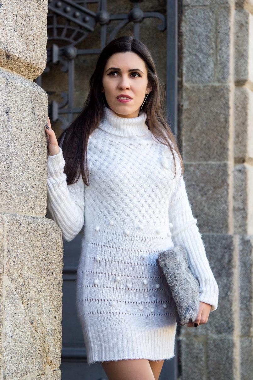 Le Fashionaire Frio de Janeiro blogueira catarine martins moda inspiracao vestido branco la rosa pompom stradivarius clutch pelo coelho cinzenta sfera 2613 PT 805x1208