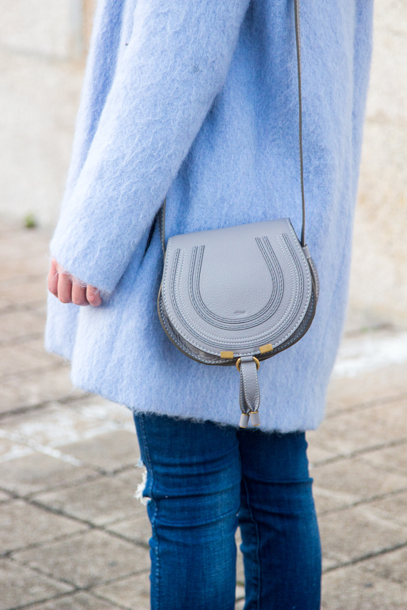 Le Fashionaire The candy cotton blue coat fashion inspiration pale blue candy cotton zara wool coat leather mini marcie grey chloe bag 4026 EN 805x1208