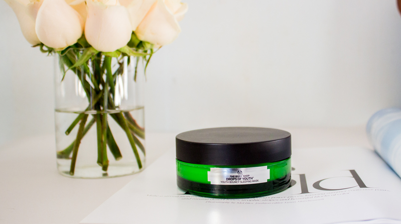 Le Fashionaire My secret for a glowing skin roses magazine blogger catarine martins fashion inspiration bodyshop drops youth night mask 4886F EN 805x450