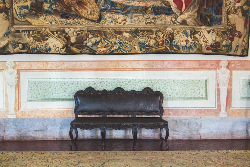 Le Fashionaire Palácio Nacional de Mafra banco salas repletas opulencia palacio nacional mafra 5430 PT 805x537