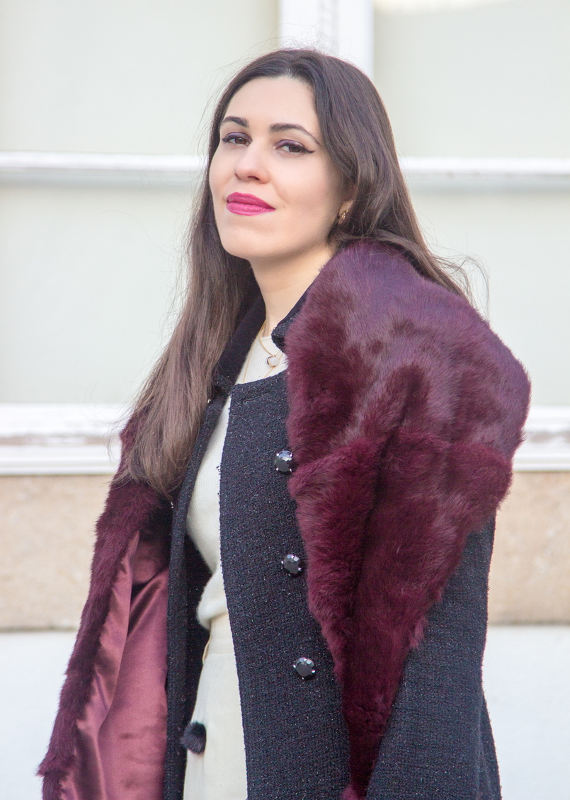 Le Fashionaire Don't get envy, get proactive! blogger catarine martins fashion inspiration burgundy fur sfera stole 4887 EN 805x1130