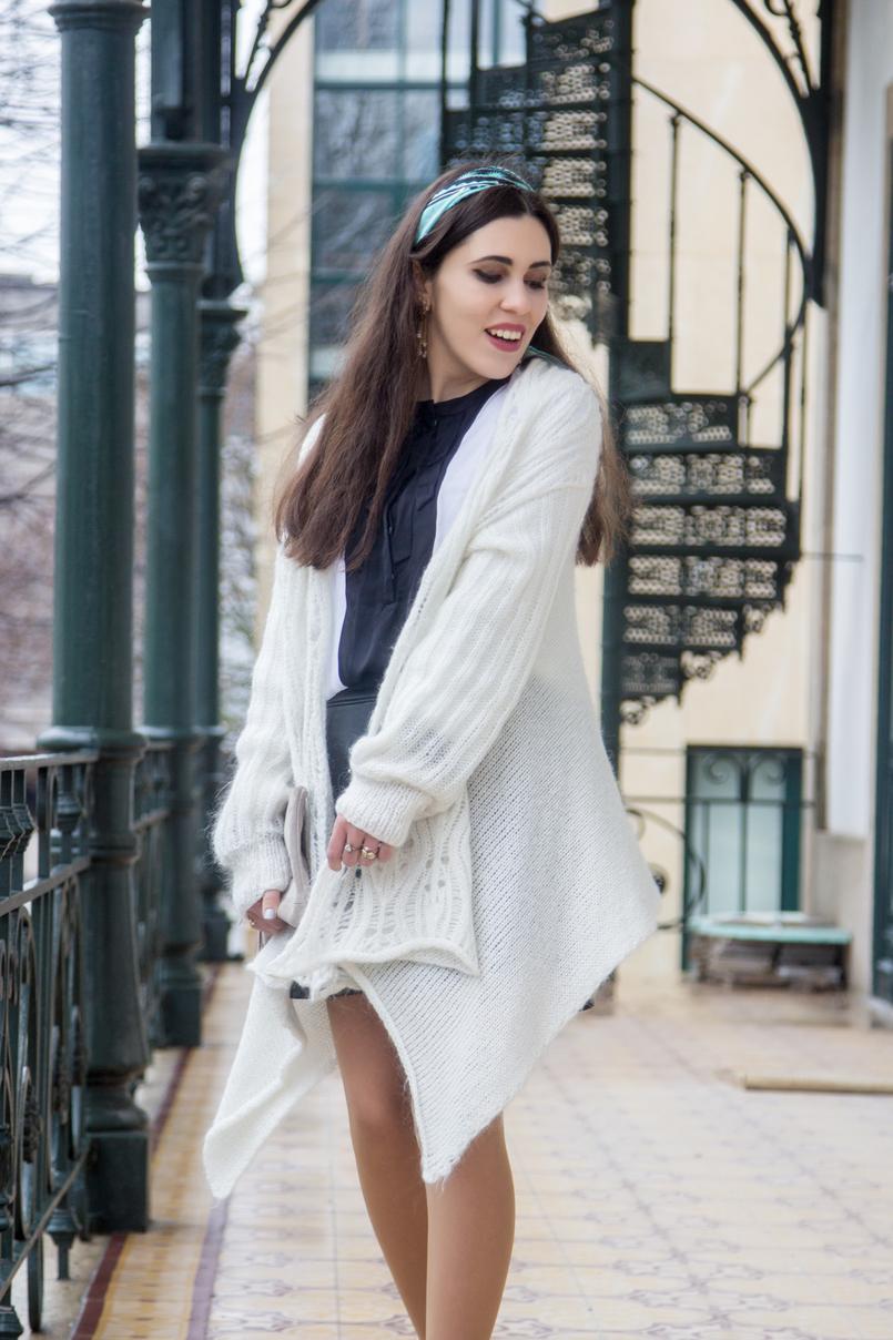 Le Fashionaire É preciso deixar ir casaco branco assimetrico la antigo camisa preta branca laco zara lenco azul padroes just cavalli brincos azuis dourado estrela compridos zara 7811 PT 805x1208