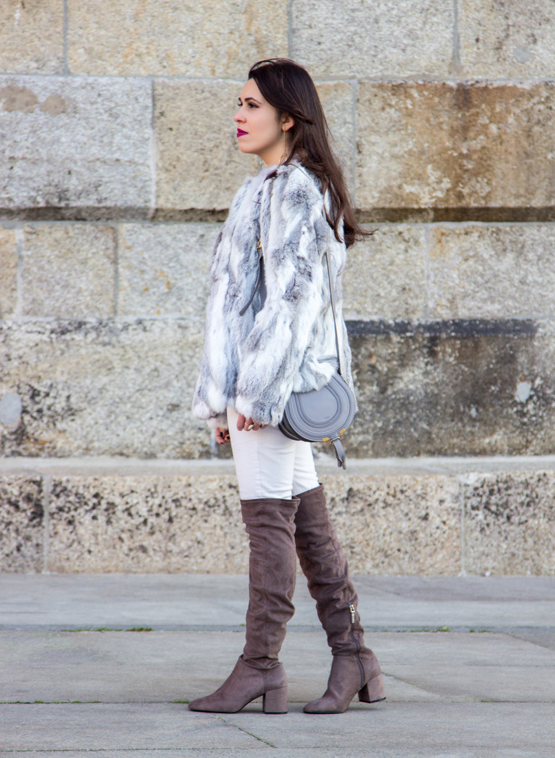 Le Fashionaire Hope fur gray white sfera beautiful coat mini marcie chloe gray bag over knee suede gray bershka boots 4204 EN 805x1100