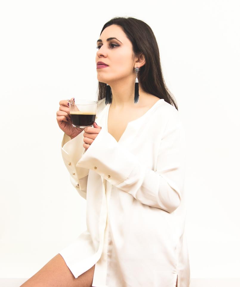 Le Fashionaire Tendência: Brincos Grandes brincos blogueira catarine martins moda inspiracao azul franjas estrelas cristais hm 1284 PT 805x962
