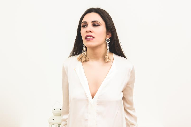 Le Fashionaire Tendência: Brincos Grandes brincos blogueira catarine martins moda inspiracao rosa franjas plastico bola hm 1260 PT 805x537