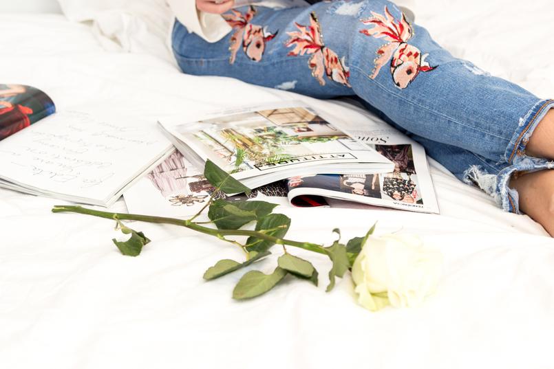 Le Fashionaire 5 revistas para nos inspirar calcas zara bordadas ganga peixes vermelhos zara revistas espalhadas vogue moda attitude design porter moda editoriais cultura maxima lifestyle 1724 PT 805x537