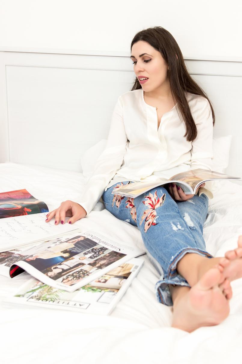 Le Fashionaire 5 revistas para nos inspirar camisa zara branca seda revistas espalhadas porter moda editoriais cultura Telva espanola moda lifestyle 1734 PT 805x1208