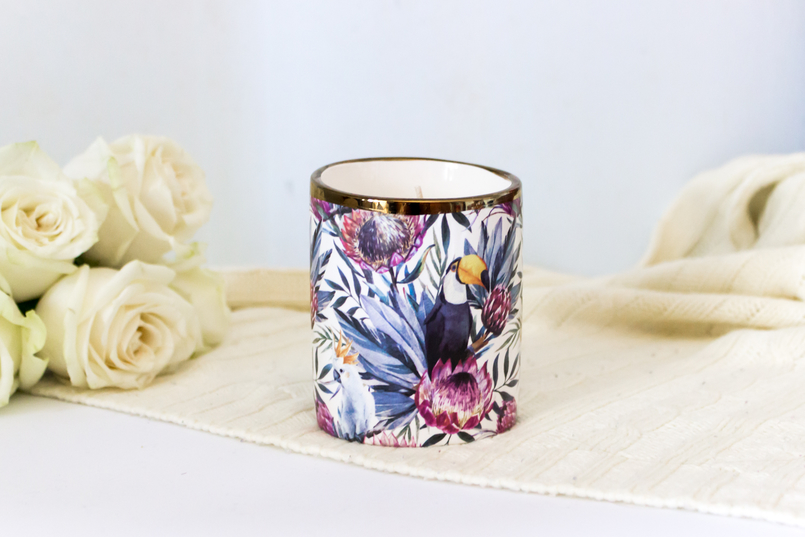 Le Fashionaire Candle light tropical toucans flowers primark candle 5416 EN 805x537