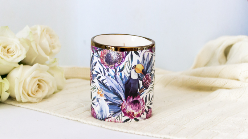 Le Fashionaire Candle light tropical toucans flowers primark candle 5416F EN 805x450