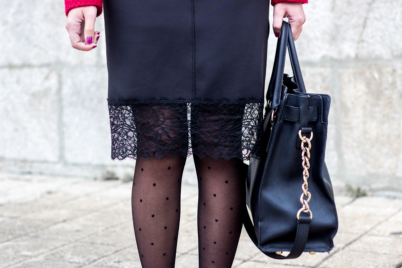 Le Fashionaire Hoje é para viver vestido preto lingerie renda zara meias bolinhas pretas calzedonia mala preta hamilton michael kors 0919 PT 805x537