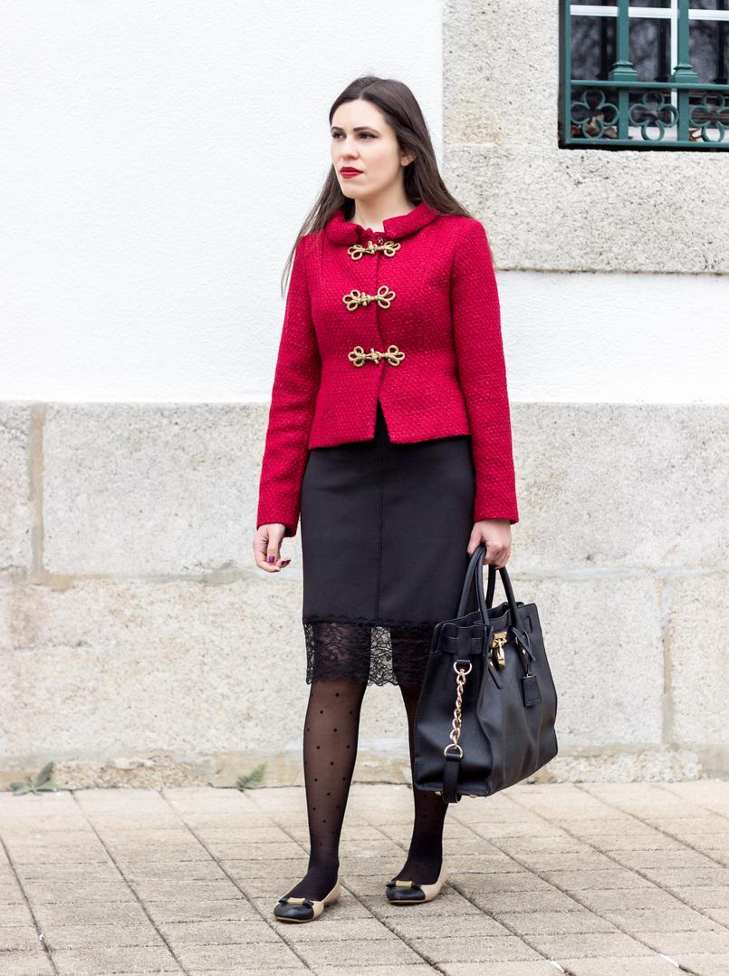 Le Fashionaire Hoje é para viver vestido preto lingerie renda zara meias bolinhas pretas calzedonia sabrinas pretas brancas marc jacobs 0901 PT 805x1077