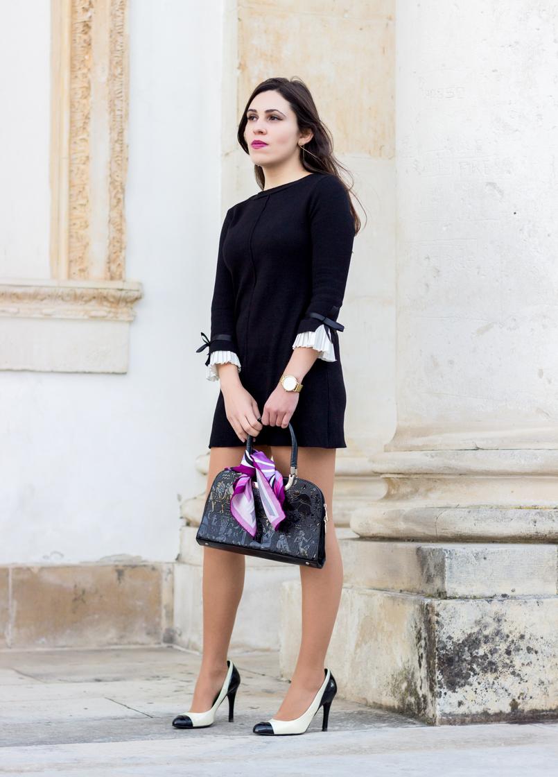 Le Fashionaire Os blogues estão esquecidos? vestido preto mangas brancas laco minusey mala preta estampado egipcios vintage lenco rosa arabescos estampado emilio pucci 2138 PT 805x1120