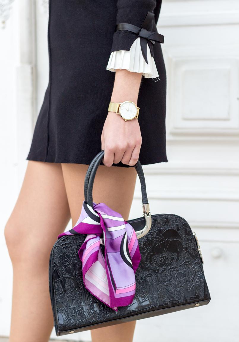 Le Fashionaire Os blogues estão esquecidos? vestido preto mangas brancas laco minusey mala preta estampado egipcios vintage lenco rosa arabescos estampado emilio pucci 2197 PT 805x1149
