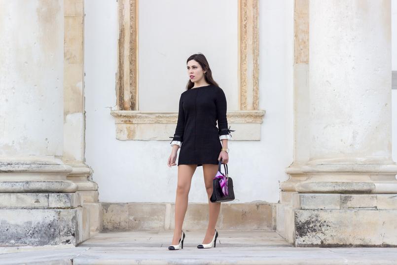 Le Fashionaire Os blogues estão esquecidos? vestido preto mangas brancas laco minusey mala preta estampado egipcios vintage sapatos pretos brancos estilo chanel zara saltos 2150 PT 805x537