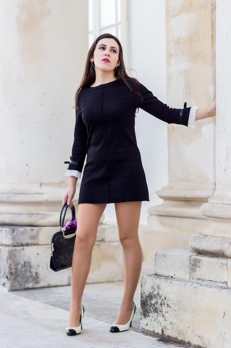 Le Fashionaire Os blogues estão esquecidos? vestido preto mangas brancas laco minusey mala preta estampado egipcios vintage sapatos pretos brancos estilo chanel zara saltos 2167 PT 805x1208