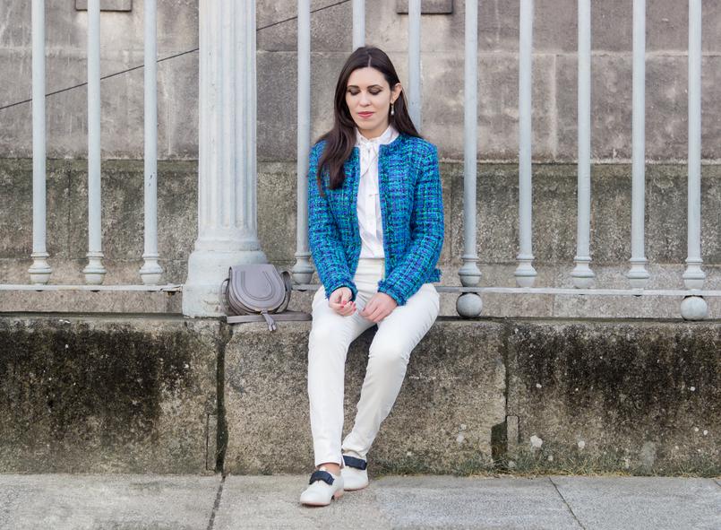 Le Fashionaire Influenciadores: liberdade ou manipulação? casaco tweed azul verde globe mala cinzenta mini marcie pele chloe camisa branca laco vitoriana hm sapatos brancos laco preto eureka 8313 PT 805x591