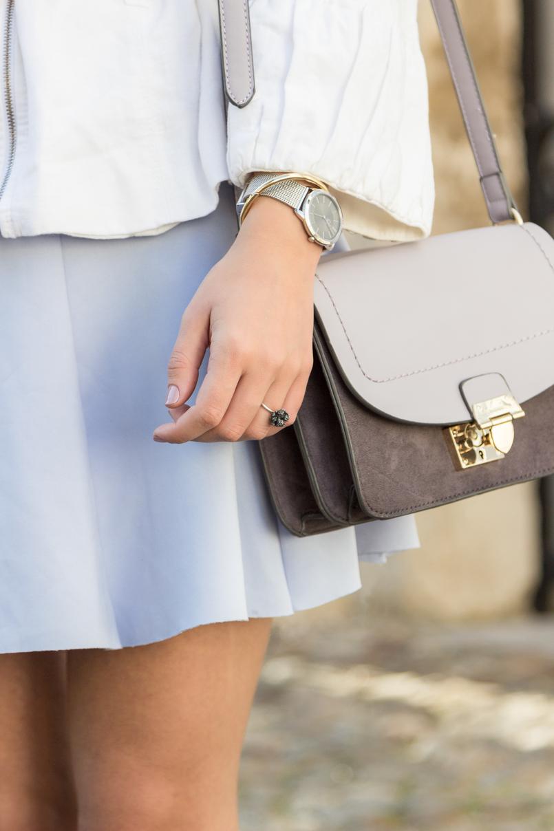 Le Fashionaire Are those who love fashion futile? fashion inspiration lavander lefties skirt purple lilac parfois bag 8963 EN 805x1208