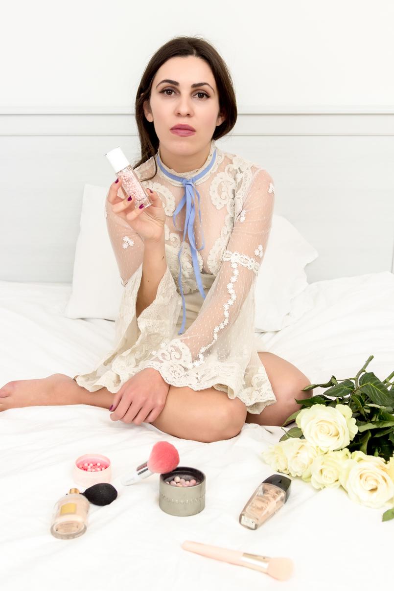 Le Fashionaire Os meus 5 produtos preferidos da Guerlain produtos guerlain maquilhagem mascara pestanas la petite robe noir blush anjos edicao limitada rosa vestido branco renda eduardiano asos laco azul 1524 PT 805x1208