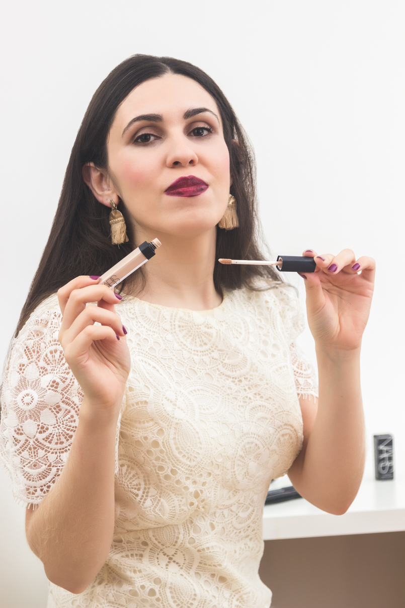 Le Fashionaire A Narcissist Affair (enter the giveaway to win a Nars lipstick) blogger catarine martins white zara lace dress radiant creamy concealer 3960 EN 805x1208