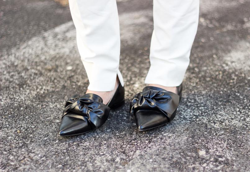 Le Fashionaire Como usar branco total calcas brancas zara sapatos lacos pretos bicudos zara 9069 PT 805x554