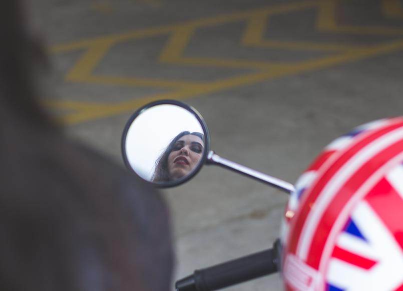 Le Fashionaire A vida é uma aventura espelho capacete vermelho azul bandeira inglaterra mota honda hornet 600 azul 8087 PT 805x582
