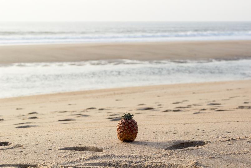Le Fashionaire What to wear to the beach: bikini or swimsuits? beach sand brown pineapple azores 2993 EN 805x537
