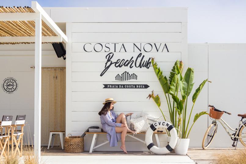 Le Fashionaire The coolest Beach Club straw stradivarius black ribbon hat banana tree leaves bicycle 5048 EN 805x537
