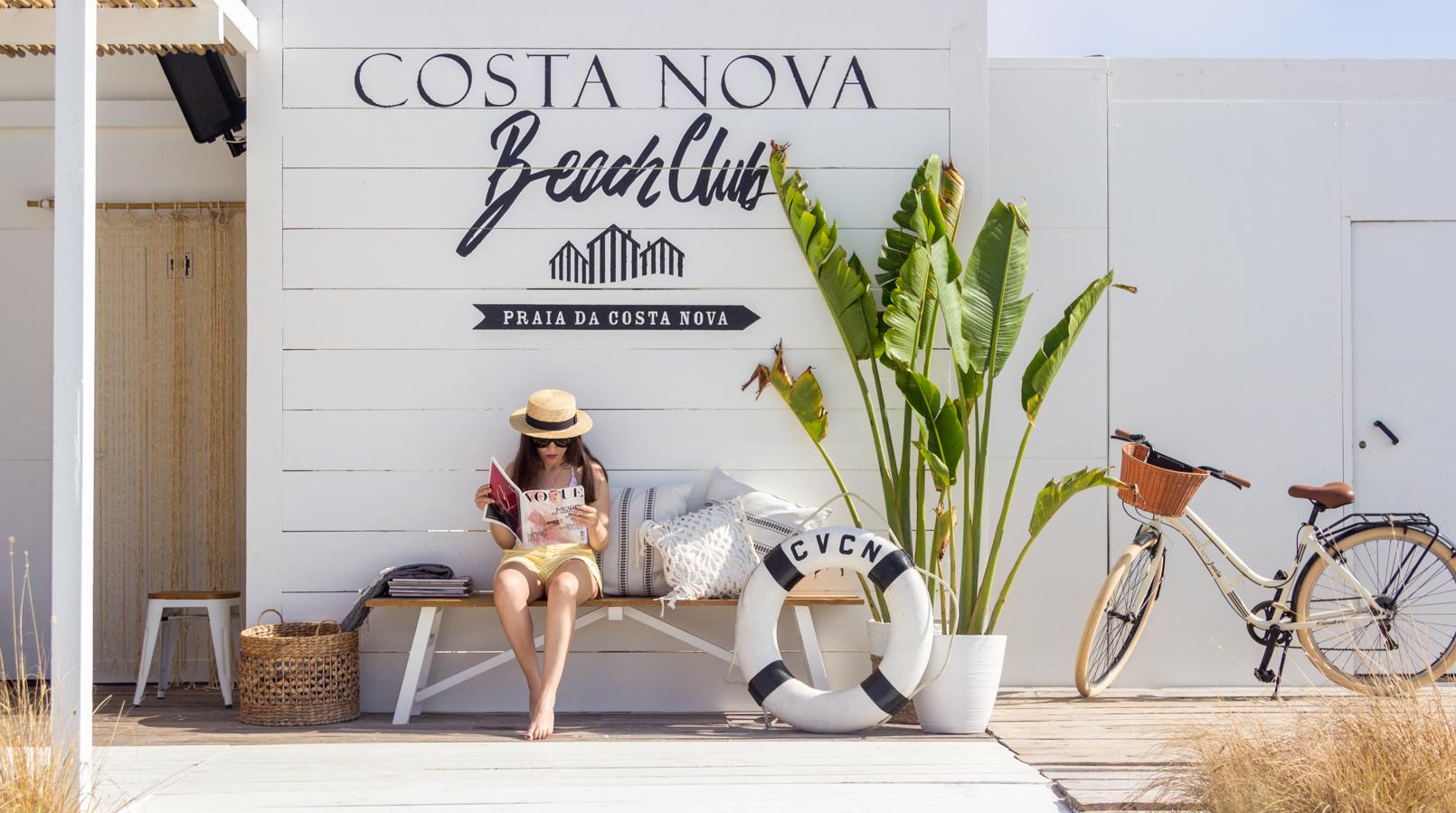 Le Fashionaire The coolest Beach Club straw stradivarius black ribbon hat banana tree leaves bicycle 5072F EN