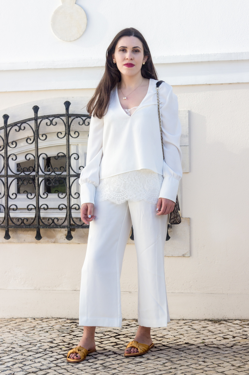 Le Fashionaire Where to shop for discount designer bags? white lace zara blouse oversized white splits pants dark yellow satin zara slides white quartz hm necklace bulgari white gold earrings 5644 EN 805x1208