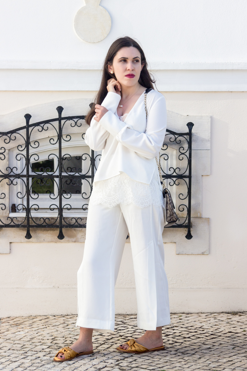 Le Fashionaire Where to shop for discount designer bags? white lace zara blouse oversized white splits pants diane von furstenberg leather snake gold chain white bag dark yellow satin zara slides 5607 EN 805x1208